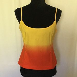 EMANUEL , TOP , Size 4 (38 ) , Yellow & Orange .